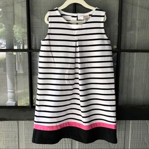 Gymboree dress, white with black stripes